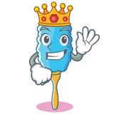 Królewiątka duster charakteru piórkowa kreskówka Zdjęcia Royalty Free