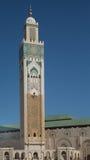 Królewiątka Hassan II minaret Obrazy Royalty Free