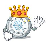 Królewiątka Qtum monety charakteru kreskówka Fotografia Royalty Free