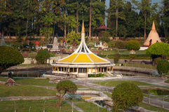 Królewiątka Rama IX Królewski park w Mini Siam parku Obrazy Stock
