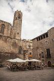 Królewiątka s kwadrat, Barcelona, Hiszpania Zdjęcie Stock
