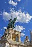 Królewiątka St Stephen statua w Budapest Zdjęcie Stock