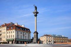 królewiątka szpaltowy sigismund s Warsaw Zdjęcie Royalty Free