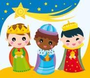 królewiątka trzy Obrazy Royalty Free