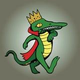Królewiątko aligator Spaceruje na tle Fotografia Royalty Free