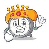 Królewiątko budzika maskotki kreskówka Zdjęcie Royalty Free
