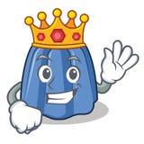 Królewiątko charakteru kreskówki galaretowy styl Obrazy Royalty Free
