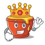 Królewiątko charakteru kreskówki miodowy styl Zdjęcia Royalty Free
