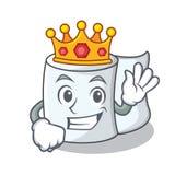 Królewiątko charakteru kreskówki tkankowy styl Zdjęcia Stock