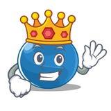 Królewiątko czarnej jagody charakteru kreskówki styl Zdjęcie Stock