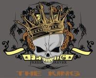 królewiątko czaszka Fotografia Royalty Free
