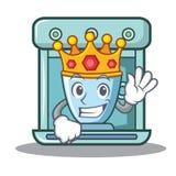 Królewiątko kawowego producenta charakteru kreskówka Obraz Royalty Free