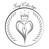 Królewiątko kobry logo Obraz Royalty Free