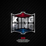 Królewiątko loga ringowy projekt Obrazy Royalty Free