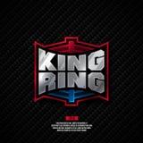 Królewiątko loga ringowy projekt Obraz Royalty Free