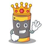Królewiątko maskotki kreskówki bateryjny styl Fotografia Stock