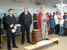 Królewiątko Neptune, kapitan na lewicie Obrazy Royalty Free