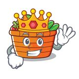 Królewiątko owocowego kosza charakteru kreskówka Zdjęcia Royalty Free