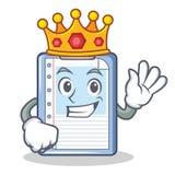 Królewiątko schowka charakteru kreskówki styl Zdjęcia Royalty Free
