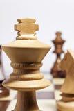 królewiątko szachowy biel Zdjęcie Royalty Free