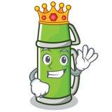 Królewiątko termosu charakteru kreskówki styl Zdjęcie Stock