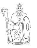 królewiątko wektor royalty ilustracja
