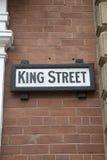 Królewiątko znak uliczny, Leeds; Yorkshire Zdjęcie Royalty Free