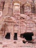 Królewscy grobowowie w Petra obrazy stock