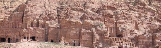Królewscy grobowowie w Petra fotografia stock
