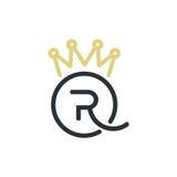 Królewscy królowa listy i korona logo Fotografia Royalty Free