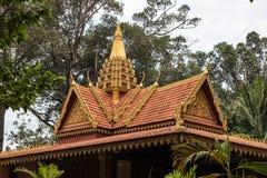 Królewscy niezależność ogródy w Siem Przeprowadzają żniwa, Kambodża zdjęcia stock