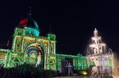 Królewscy Powystawowi budynki podczas Białej nocy Obrazy Royalty Free