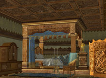 królewska łóżkowa sala Zdjęcia Royalty Free