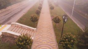 Królewska ścieżka w mgle na widok Zdjęcie Stock