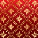 Królewska bezszwowa deseniowa kwiecista tapeta ilustracja wektor