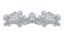 Królewska Denna rocznik rama, ornament i Zdjęcie Stock