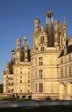 Królewska Górska chata De Chambord przy zmierzchem, Francja zdjęcie stock