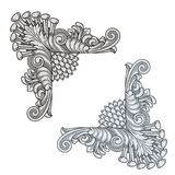 Królewska kąt perły rocznika rama i ornament Zdjęcia Royalty Free
