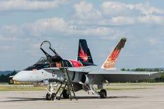 Królewska Kanadyjska siły powietrzne CF-18, Kanadyjska farba. (RCAF) Fotografia Royalty Free