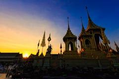Królewska kremaci ziemia dla przepustki królewiątka Tajlandia umieszczał przy Sanam Luang, Bangkok, TAJLANDIA Fotografia Royalty Free