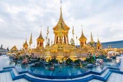 Królewska kremacja jego wysokość królewiątko Bhumibol Adulyadej fotografia stock