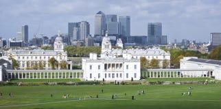 Królewska morska szkoły wyższa Greenwich London linia horyzontu uk Zdjęcia Stock