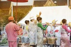 Królewska oranie ceremonia w Tajlandia Fotografia Stock