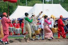 Królewska oranie ceremonia w Tajlandia Zdjęcia Royalty Free