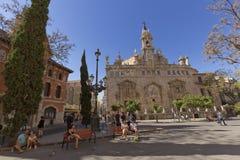 Królewska parafia Santos Juanes w Walencja zdjęcie royalty free