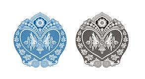 Królewska rocznik rama, ornament i Zdjęcie Royalty Free