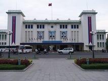 Królewska stacja kolejowa wcześnie w ranku w Phnom Penh, Kambodża Zdjęcie Royalty Free