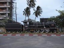 Królewska stacja kolejowa wcześnie w ranku w Phnom Penh, Kambodża Obrazy Stock