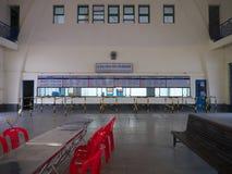 Królewska stacja kolejowa wcześnie w ranku w Phnom Penh, Kambodża Obraz Royalty Free