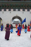 Królewska Strażowa odmienianie ceremonia, Gyeongbokgung pałac Fotografia Stock